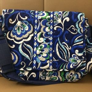 NWT Vera Bradley Messenger Bag Mediterranean Blue